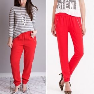 J. Crew Red Joggers